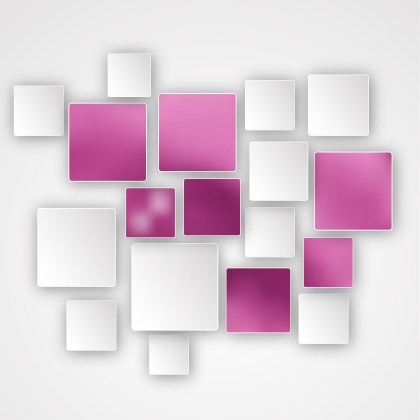 Abstract Pink and White Square Background