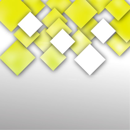 Abstract Yellow and White Square Background