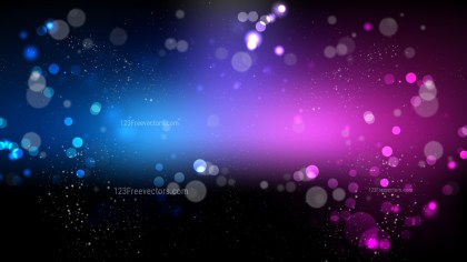 Black Blue and Purple Bokeh Background Illustrator