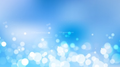 Abstract Blue Blur Lights Background Vector