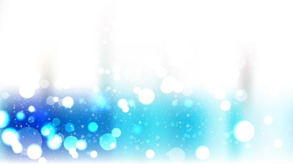Abstract Blue and White Bokeh Defocused Lights Background