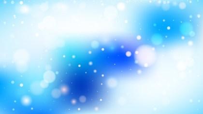 Blue and White Bokeh Defocused Lights Background Vector Art