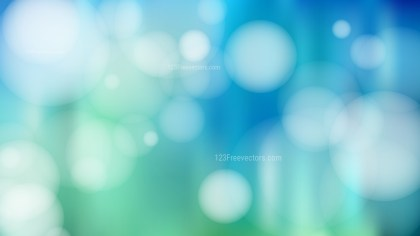 Blue Green and White Lights Background