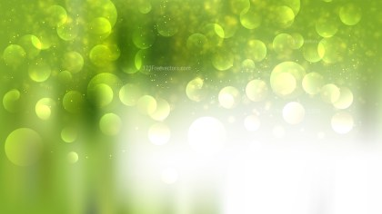 Abstract Green and White Lights Background Vector Art