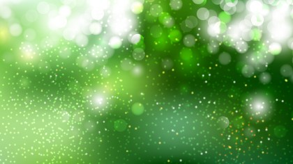 Green and White Blur Lights Background Vector Graphic