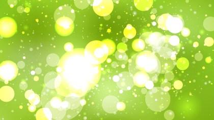 Lime Green Blur Lights Background Vector