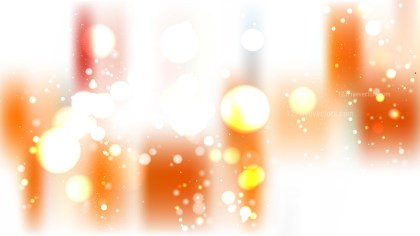 Abstract Orange and White Blurred Bokeh Background Vector Illustration