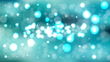 Turquoise Blurred Lights Background
