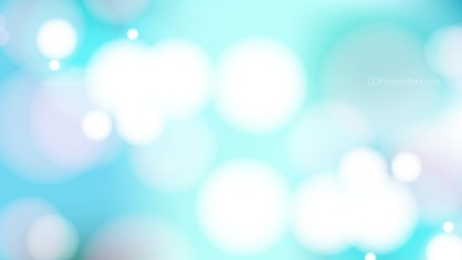 Abstract Turquoise and White Bokeh Background Vector