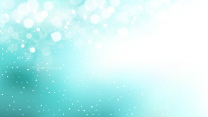 Turquoise and White Blurry Lights Background Vector Illustration