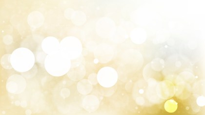 White and Gold Blurred Lights Background Design