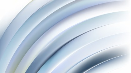 Abstract Blue and White Curved Stripes Illustration