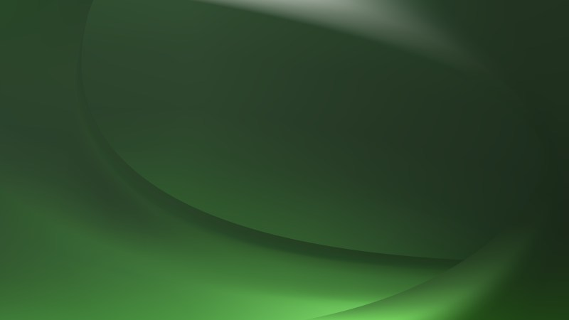 Abstract Dark Green Wave Background