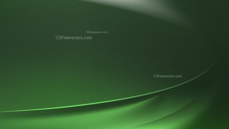 Dark Green Wavy Background Vector Graphic