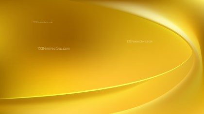 Gold Abstract Wave Background Template Vector
