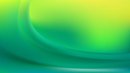 Abstract Glowing Green and Yellow Wave Background