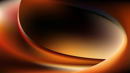 Abstract Orange and Black Shiny Wave Background Vector Graphic