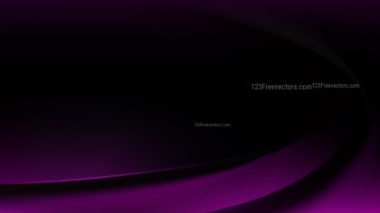 Glowing Purple and Black Wave Background