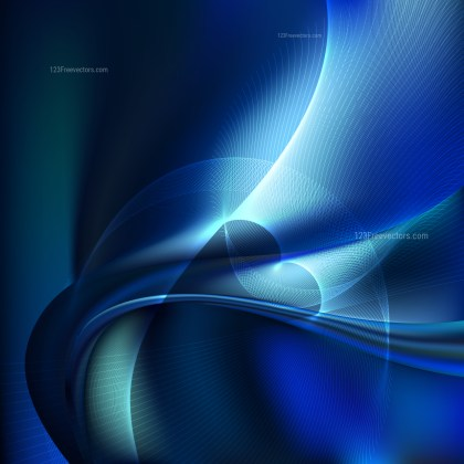 Abstract Black and Blue Wave Lines Background Design Template