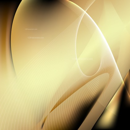 Black and Gold Flowing Lines Background Illustrator