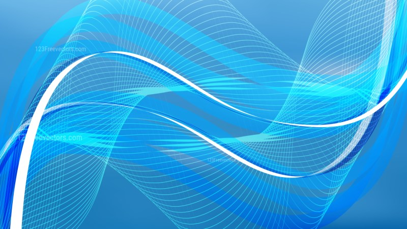 Abstract Blue Wavy Lines Background
