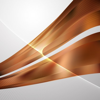 Brown Flowing Lines Background