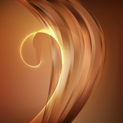 Abstract Brown Curved Lines Background Vector Illustration