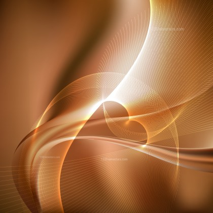 Abstract Brown Wavy Lines Background Template