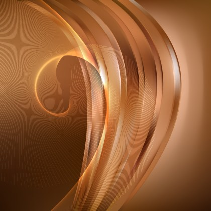 Abstract Brown Flow Curves Background