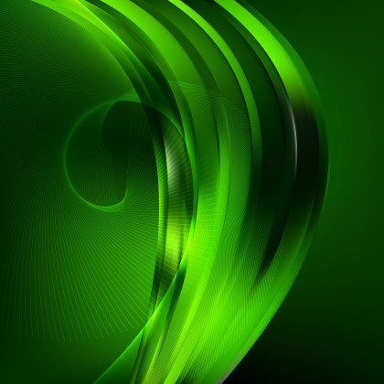 Cool Green Wave Lines Background