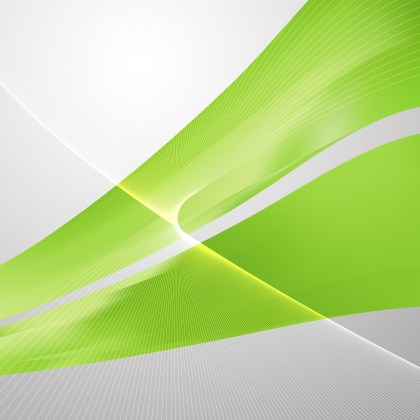 Green Wavy Lines Background Template