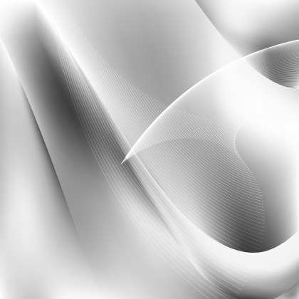 Abstract Grey and White Wavy Lines Background