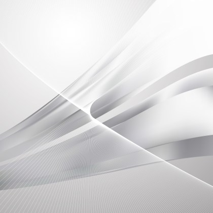 Grey and White Flow Curves Background Vector Image