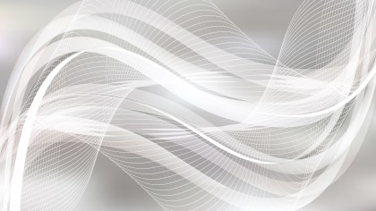Grey and White Wavy Lines Background