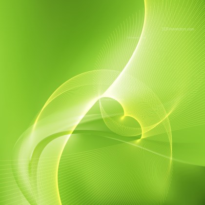Lime Green Curved Lines Background Vector Illustration