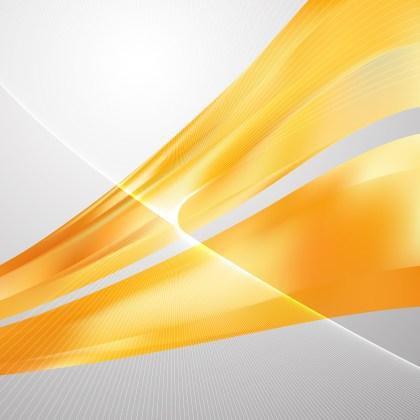 Orange Curved Lines Background