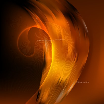Orange and Black Wavy Lines Background
