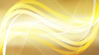 Abstract Orange and White Flow Curves Background Vector Image