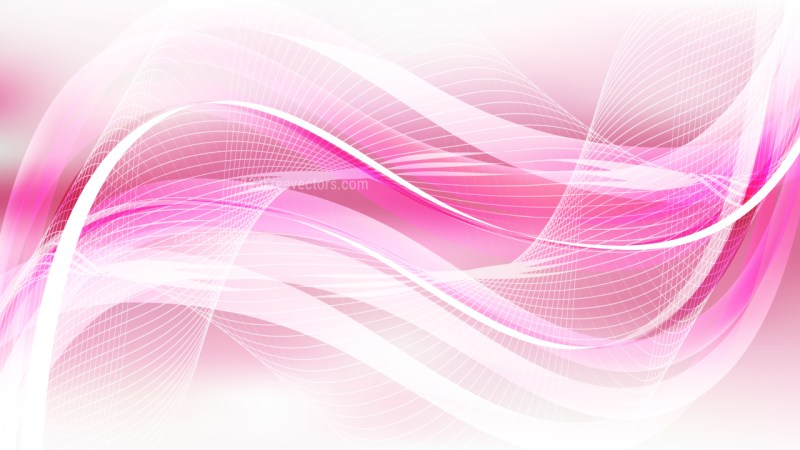Pink and White Wave Lines Background Design Template