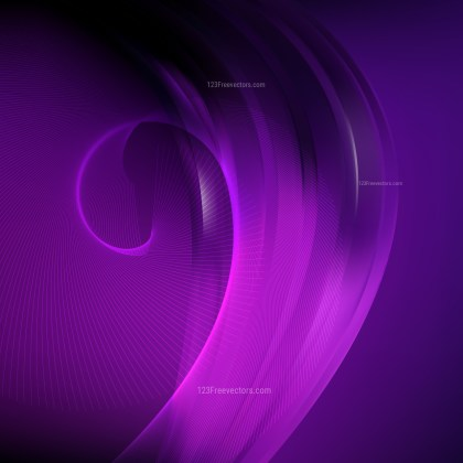 Abstract Purple and Black Flowing Curves Background Vector Graphic