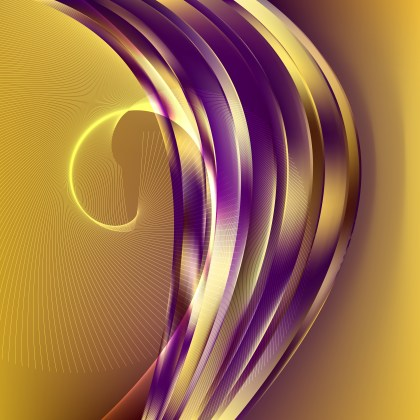 Purple and Gold Wavy Lines Background