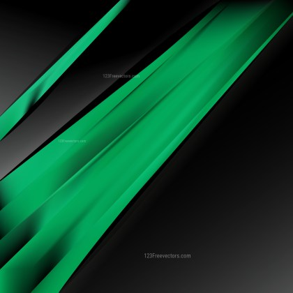Abstract Green and Black Brochure Design Template Illustration