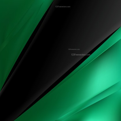 Abstract Green and Black Business Brochure Template Vector Illustration