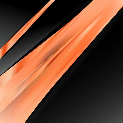 Abstract Orange and Black Brochure Design