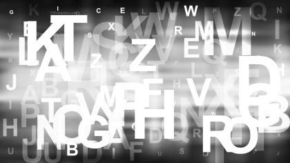 Black and White Random Alphabet background