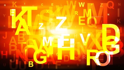 Black Red and Yellow Scattered Alphabet Background Graphic