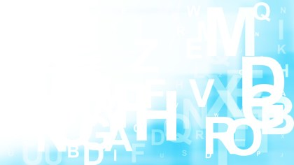 Blue and White Alphabet Background