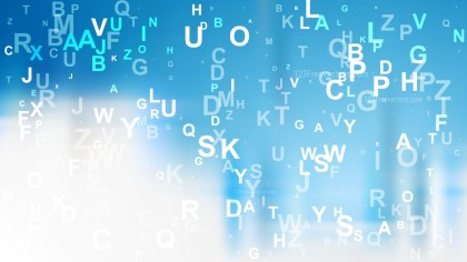 Abstract Blue and White Random Alphabet Letters Background