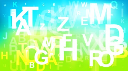 Abstract Blue Green and White Alphabet Background Illustrator