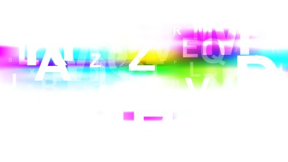 Colorful Random Letters Background